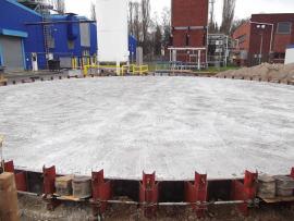 Hamburg: Sprinklertank-Stahlbeton-Sohle (nachher)